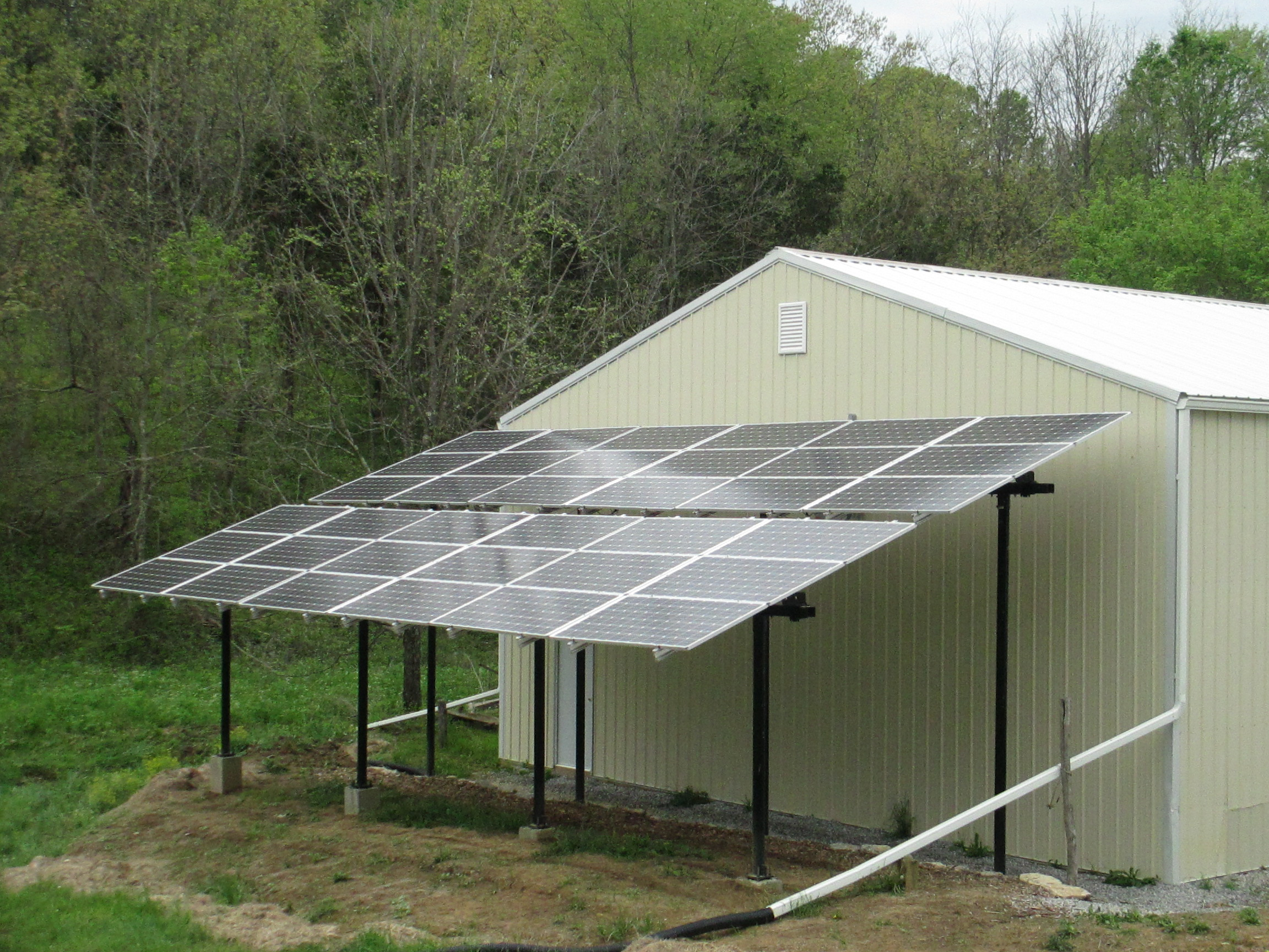 Earth Tools The Back Shed Recycled Items Used To Generate Power Solar Pv Additional 115kw Array Put In Service January 2016 We Are Now 100 Powered